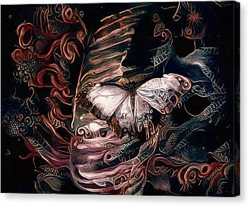 Wings Of The Night Canvas Print by Susan Maxwell Schmidt