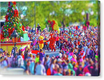 Canvas Print featuring the photograph Winnie The Pooh And Tigger by Mark Andrew Thomas