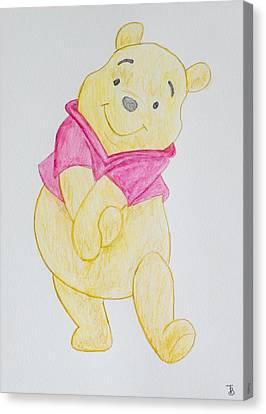 Winnie The Pooh Canvas Print by Paul Bartoszek