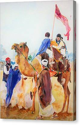 Winning Celebration Canvas Print by Khalid Saeed