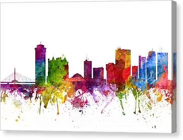 Winnipeg Canada Cityscape 06 Canvas Print by Aged Pixel