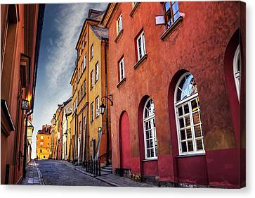 Historical Buildings Canvas Print - Winsome Warsaw  by Carol Japp