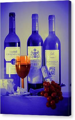 Winsome Wine Canvas Print by Donald Davis