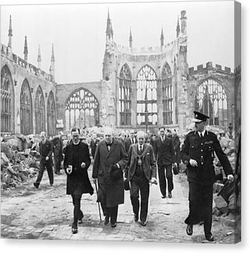 Prime Canvas Print - Winston Churchill 1874-1965, Walks by Everett