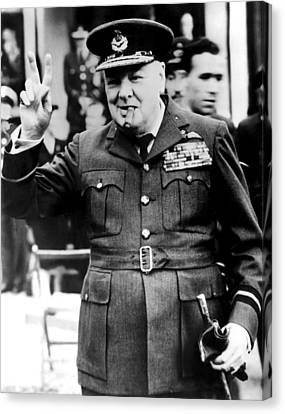 Winston Churchill, 1961 Canvas Print by Everett