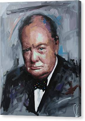 Prime Canvas Print - Winston Churchill by Richard Day