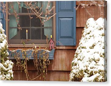 Winter - A Winters Morning Canvas Print by Mike Savad