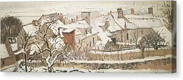 Winter, 1872  Canvas Print by Camille Pissarro