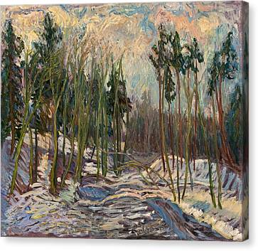 Winter A Canvas Print by Babelis Vytautas