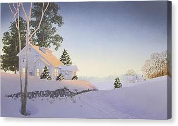 Winter Afterglow Canvas Print