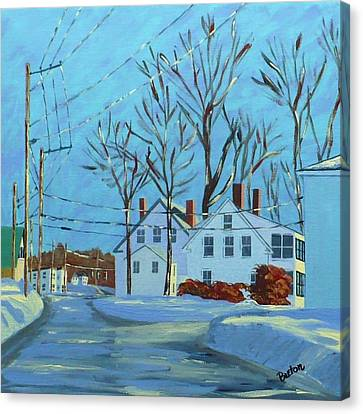 Winter Afternoon Bridge Street Canvas Print by Laurie Breton