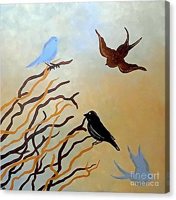 Winter Approaching Canvas Print by Jilian Cramb - AMothersFineArt