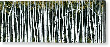 Canvas Print featuring the painting Winter Aspen 3 by Michael Swanson