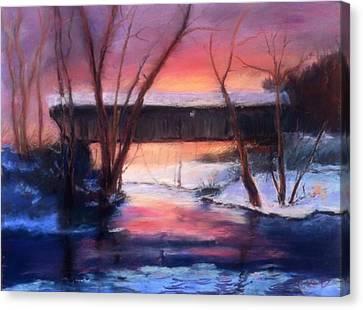 Winter At Bennett's Mill Canvas Print