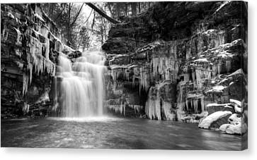 Winter At Big Falls  Canvas Print by Lori Deiter