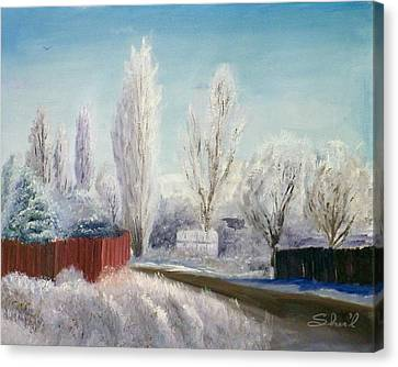 Winter At Bonanza Canvas Print by Sherril Porter
