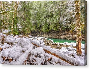 Canvas Print featuring the photograph Winter At Eagle Falls by Spencer McDonald