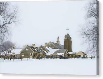 Winter At Erdenheim Farm - Whitemarsh Pa Canvas Print
