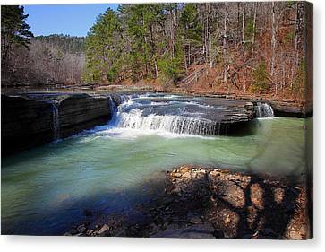 Winter At Haw Creek Falls Canvas Print by Michael Dougherty