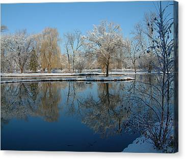 Winter At Hidden Lakes Canvas Print by Gregory Jeffries