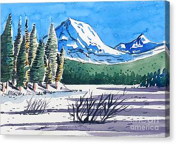 Winter At Mt. Lassen Canvas Print