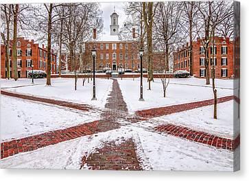 Ohio University Winter Snow Canvas Print by Robert Powell
