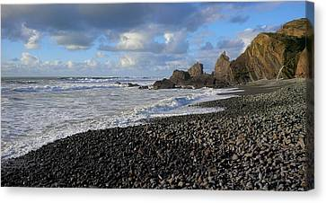 Winter At Sandymouth Canvas Print by Richard Brookes