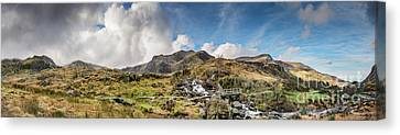 Winter At Snowdonia Canvas Print by Adrian Evans