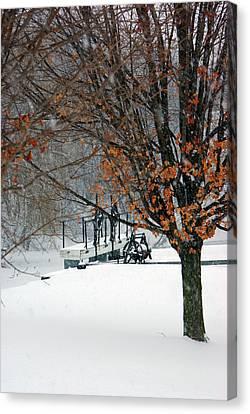 Winter At The Locks Canvas Print