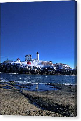 Winter At The Nubble Lighthouse - York - Maine IIi Canvas Print