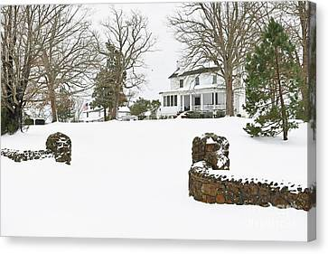 Winter At The Old Homeplace  Canvas Print by Benanne Stiens