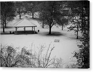 Winter At The Park Canvas Print by Idaho Scenic Images Linda Lantzy