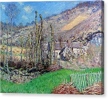 Winter At The Val De Falaise Canvas Print by Claude Monet