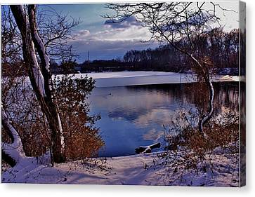 Winter At Twin Lakes Canvas Print by Mikki Cucuzzo