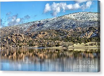 Winter At Watson Lake Canvas Print by Ruth Jolly