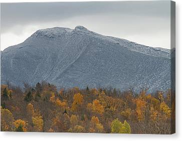 Winter Autumn Vermont Mount Mansfield Mountain Canvas Print by Andy Gimino