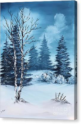 Winter Canvas Print by Barbara Teller
