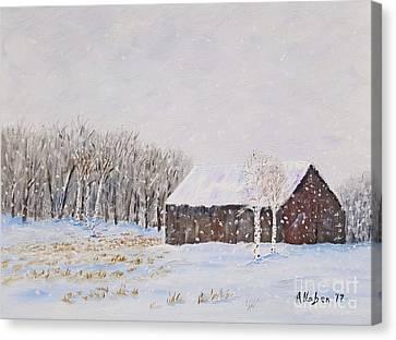 Canvas Print - Winter Barn by Stanton Allaben