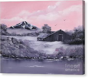 Winter Barns Canvas Print