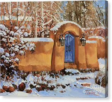 Winter Beauty Of Santa Fe Canvas Print by Gary Kim