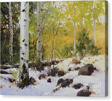Winter Beauty Sangre De Mountain 2 Canvas Print by Gary Kim