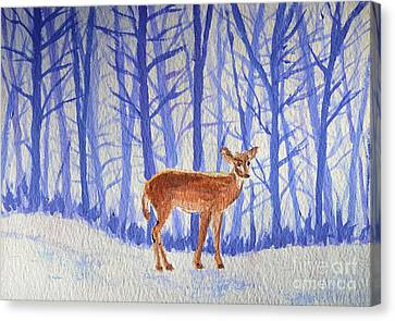 Winter Begins Canvas Print by Li Newton