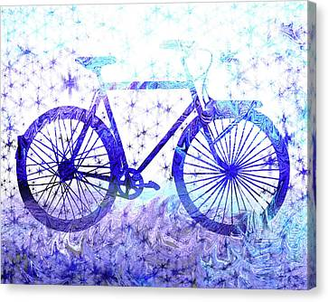Winter Bicycle Canvas Print