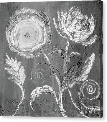 Canvas Print featuring the digital art Winter Bloom II by Robin Maria Pedrero