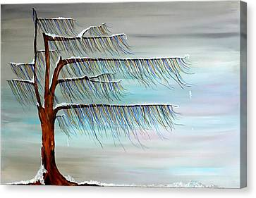 Winter Blues Canvas Print by Andrea Youngman