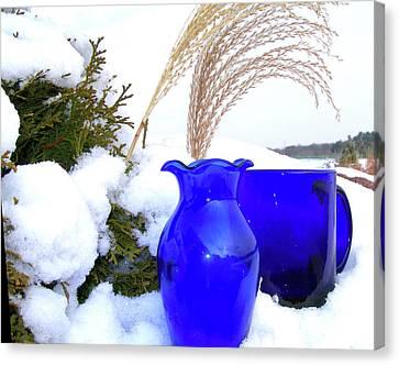 Winter Blues II Canvas Print by Randy Rosenberger