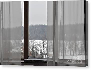 Canvas Print featuring the photograph Winter Boredom by John Black