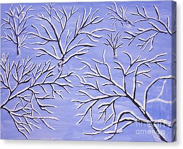 Winter Branches, Painting Canvas Print