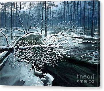 Winter Branches Canvas Print by Sergey Zhiboedov