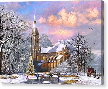 Winter Cathedral Canvas Print by Dominic Davison